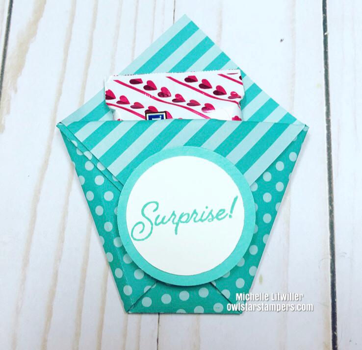 diy diaper fold treat holder