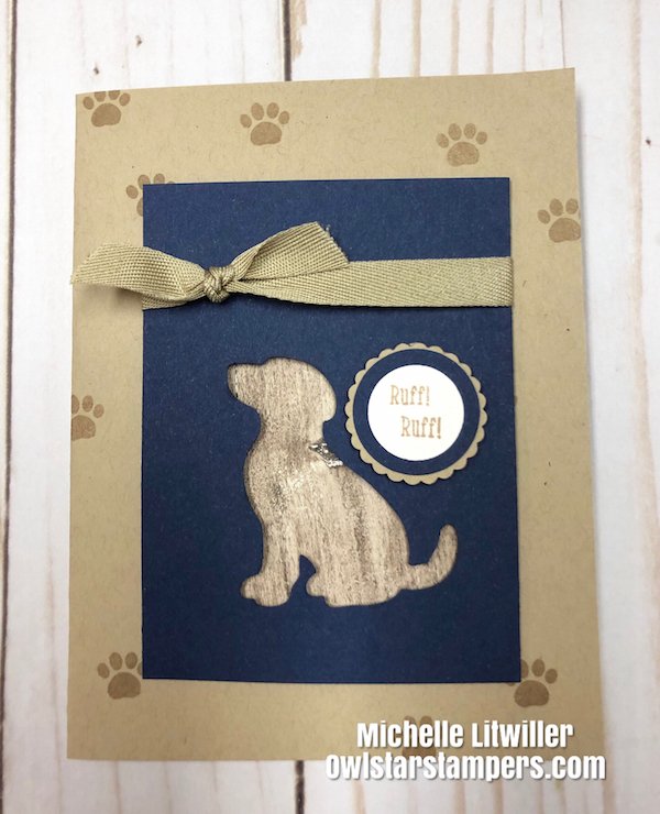 Stampin UP Dog Card