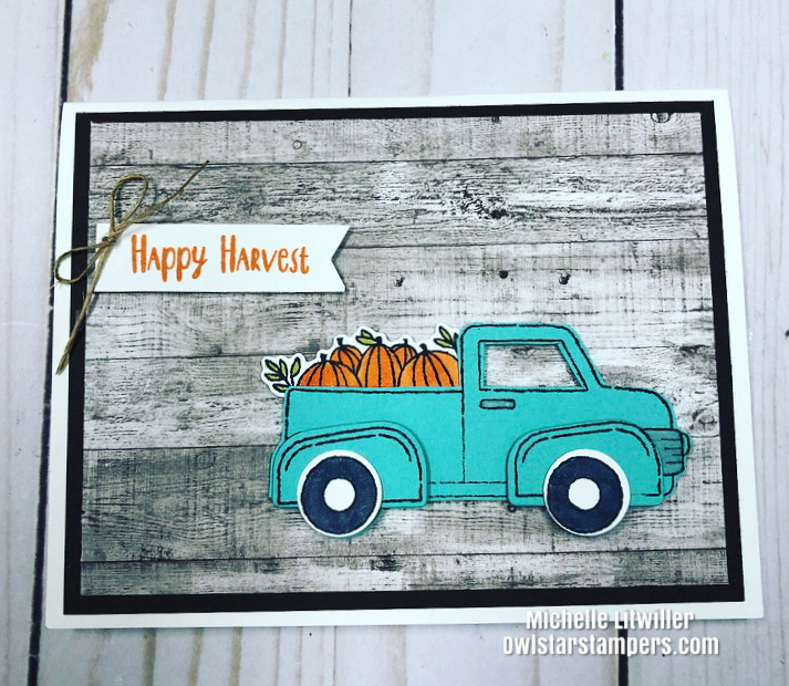 vintage farmhouse truck card