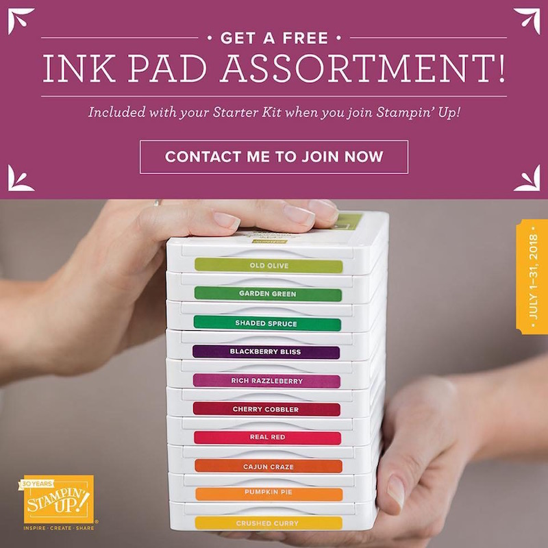 Free Ink Pad Promotion Stampin' Up Demonstrator