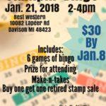 Stampin Bingo 2018 Davison MI