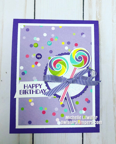 Stampin Up Candy Card